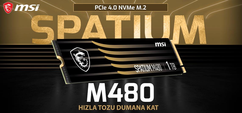 MSI SPATIUM M480 PCIe 4.0 NVMe M.2 SSD